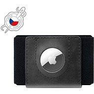 FIXED Tiny Wallet for AirTag valódi marhabőrből - fekete - Pénztárca