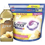 LENOR Gold Orchid kapszula 44 db + öblítő 750 ml (25 mosás) - Drogéria szett
