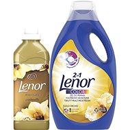 LENOR Gold Orchidea mosószer 2,2 l (40 mosás) + öblítő 750 ml, (25 mosás) - Drogéria szett