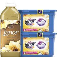 LENOR Gold Orchid kapszula 26 db + öblítő 750 ml (25 mosás) - Drogéria szett