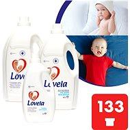 LOVELA Gigapack fehér 9,4 l (133 mosás) + ajándék öblítővel - Folyékony mosószer