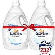 COCCOLINO Fehér virágok 2×2,9 l (232 mosásra elegendő)