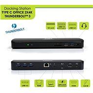 PORT CONNECT dokkolóállomás 2x 4K Thunderbolt 3 - Dokkoló állomás