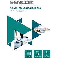 SENCOR SLA FAMM150 A4 150mic - 3x 25 db - Lamináló fólia