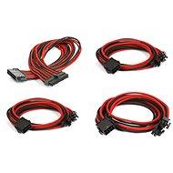 Phanteks hosszabbító kábel szett - fekete/piros - Tápkábel
