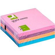 Q-CONNECT 76 x 76 mm, 4 x 80 kártya, vegyes színek