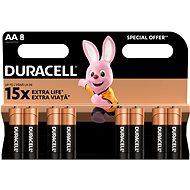 Eldobható elem Duracell Basic AA 8 db