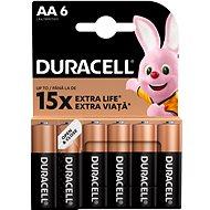 Duracell Basic AA 6 db - Eldobható elem