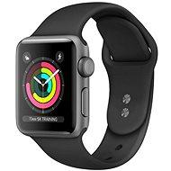 Felújított Apple Watch Series 5 40mm Asztroszürke alumínium fekete sportszíjjal - Okosóra