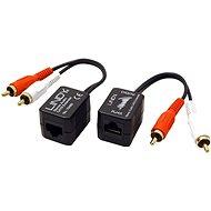 OEM audio jeltovábbító TP-n keresztül, 2x cinch, 100m - Átalakító