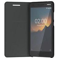 Nokia Slim Flip Cover CP-220 Nokia 2.1-hez fekete - Mobiltelefon tok