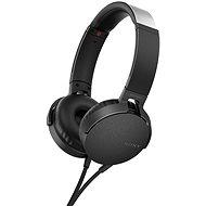 Sony MDR-XB550AP - fekete - Mikrofonos fej-/fülhallgató
