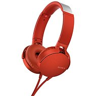 Fej-/fülhallgató Sony MDR-XB550AP piros