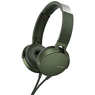 Sony MDR-XB550AP - zöld - Mikrofonos fej-/fülhallgató