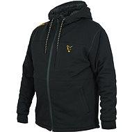 FOX kollekció fekete és narancssárga Sherpa kapucnis pulóver - Horgász pulóver