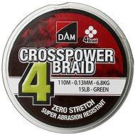 DAM Crosspower 4-fonat 100m zöld - Fonott zsinór