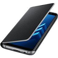 Samsung Neon Flip Cover Galaxy A8 (2018) EF-FA530P Black - Mobiltelefon tok