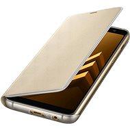 Samsung Neon Flip Cover Galaxy A8-hoz (2018) EF-FA530P - arany - Mobiltelefon tok