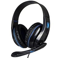 Sades T-Power fekete/kék - Gamer fejhallgató