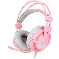 Sades A6 7.1 rózsaszín - Gamer fejhallgató