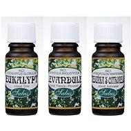 Szett Saloos Lavender 10 ml + Saloos Eucalyptus 10 ml + Saloos Citrombalzsam citromfűvel 10 ml - Sada