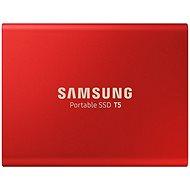 Samsung SSD T5 500GB, piros - Külső meghajtó