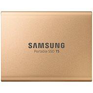 Samsung SSD T5 500GB, arany - Külső meghajtó
