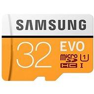Samsung MicroSDHC 32 GB EVO UHS-I U1 + SD adapter - Memóriakártya