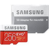 Samsung micro SDXC 256GB EVO Plus Class 10 UHS-I + SD adapter - Memóriakártya