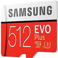 Samsung MicroSDXC EVO Plus 512GB UHS-I U3 + SD adapter - Memóriakártya