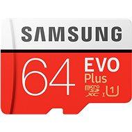 Samsung MicroSDXC 64GB EVO Plus + SD adapter - Memóriakártya