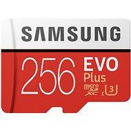 Samsung MicroSDXC 256GB EVO Plus UHS-I U3 + SD adapter - Memóriakártya
