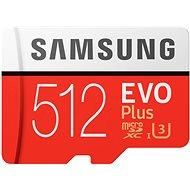 Samsung MicroSDXC 512GB EVO Plus UHS-I U3 + SD adapter - Memóriakártya