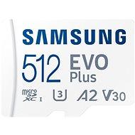 Samsung MicroSDXC 512GB EVO Plus + SD adapter - Memóriakártya