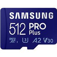 Samsung MicroSDXC 512GB PRO Plus + SD adapter - Memóriakártya