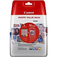 Canon CLI-571 multipack + fotópapír PP-201 - Tintapatron
