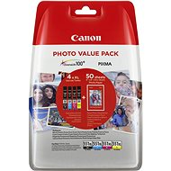 Canon XL CLI-551 C/M//Y/BK Photo Value - Tintapatron