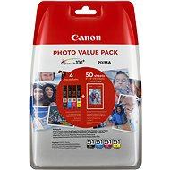 Canon CLI-551 multipack + fotópapír PP-201 - Tintapatron