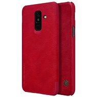 Nillkin Qin Book Samsung A605 Galaxy A6 Plus-hoz (2018) piros - Mobiltelefon tok