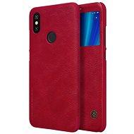 Nillkin Qin S-View Xiaomi Mi A2-höz piros - Mobiltelefon tok