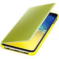 Samsung Galaxy S10e Clear View Cover, sárga - Mobiltelefon tok