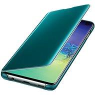 Samsung Galaxy S10 Clear View Cover, zöld - Mobiltelefon tok