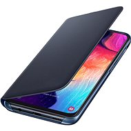 Samsung flip tok Galaxy A50 készülékhez, fekete - Mobiltelefon tok