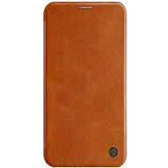 Nillkin Qin Book tok Apple iPhone 11 Pro Max készülékhez, barna - Mobiltelefon tok