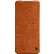Mobiltelefon tok Nillkin Qin bőrtok Xiaomi Redmi Note 9 Pro/Note 9S készülékhez - barna - Pouzdro na mobil