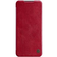 Mobiltelefon tok Nillkin Qin bőrtok Xiaomi Redmi Note 9 Pro/Note 9S készülékhez - piros - Pouzdro na mobil