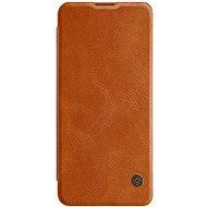 Mobiltelefon tok Nillkin Qin bőrtok Xiaomi Mi 10/10 Pro készülékhez - barna - Pouzdro na mobil