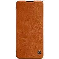 Nillkin Qin bőr tok OnePlus Nord készülékhez barna - Mobiltelefon tok