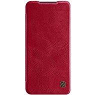 Mobiltelefon tok Nillkin Qin bőr tok Xiaomi Redmi Note 9 készülékhez piros - Pouzdro na mobil