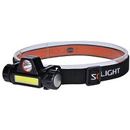 Solight Újratölthető LED fejlámpa 3W + COB150 + 120lm Li-ion USB - Fejlámpa